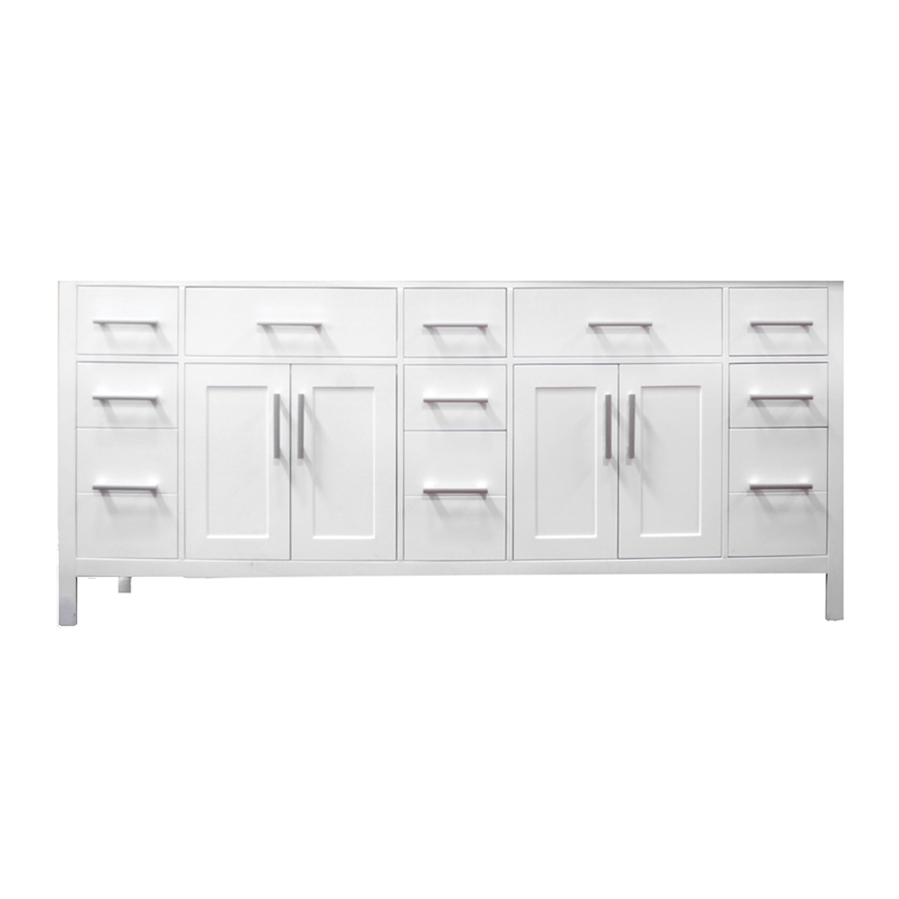 78 london double sink vanity white