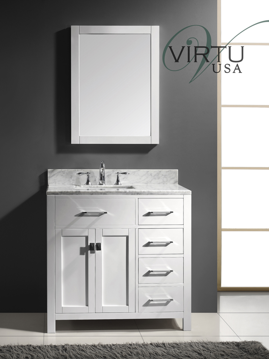 36 caroline parkway single bath vanity white. Black Bedroom Furniture Sets. Home Design Ideas