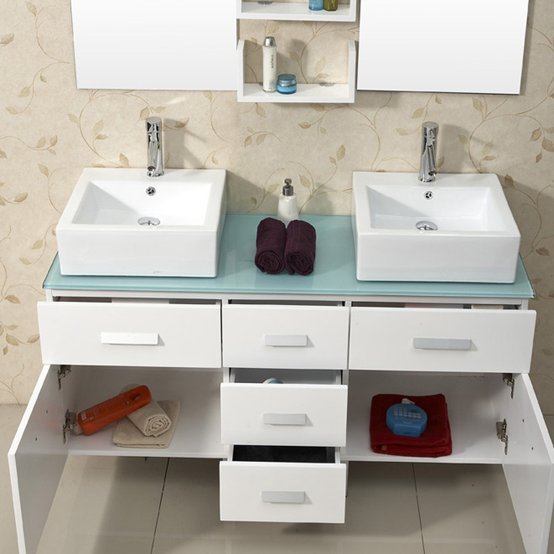 56 5 Maybell Double Sink Vanity White