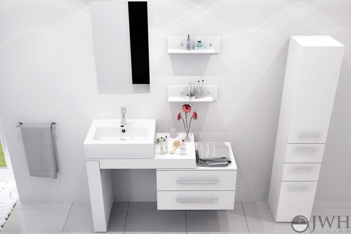 33 5 Quot To 57 Quot Scorpio Single Vessel Sink Vanity White