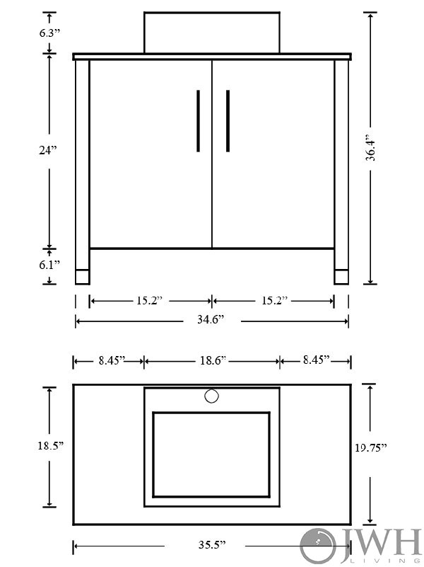 bathroom vanity dimensions cabinets 35 5 quot gemini single bathroom vanity espresso bathgems 11807