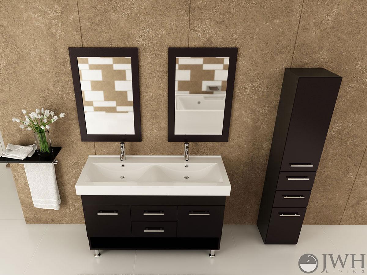 48 rigel double bathroom vanity espresso. Black Bedroom Furniture Sets. Home Design Ideas