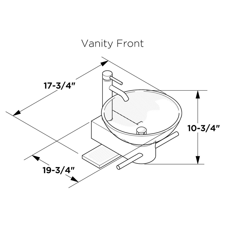 Vessel Sink Dimensions : 17.75