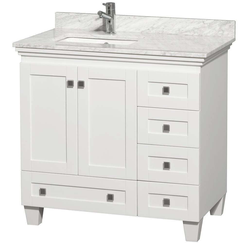 "36"" Acclaim Single Bath Vanity - White - Bathgems.com"